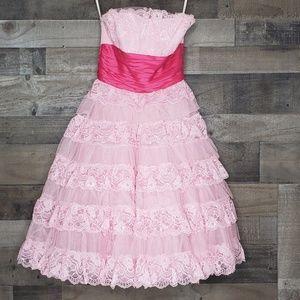 Strapless lace Dress Betsey Johnson cupcake 6